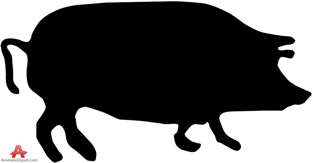 999x520 Pig Silhouette Free Clipart Design Download Scroll Saw Ideas