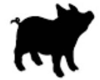 340x270 Pig Silhouette Etsy