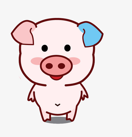549x572 Cartoon Smiling Pig Silhouette, Animal, Animal Silhouette, Concise