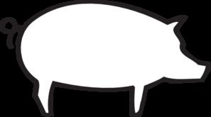 297x165 Pig Outline Clip Art