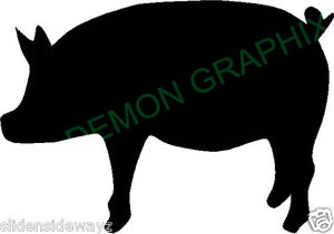 300x211 Pig Silhouette Vinyl Decalsticker Truck Window Laptop Hog Sow