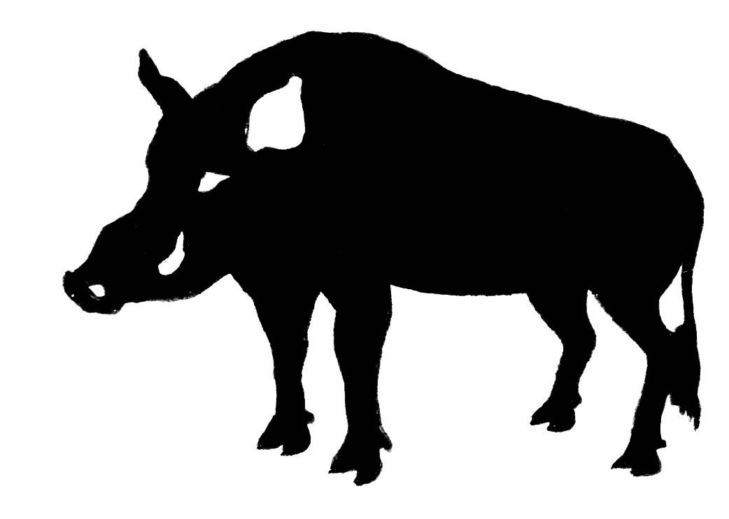1042x743 Wild Pig Clipart