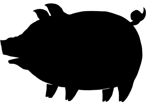 472x340 Free Cliparts Silhouette, Pig, Lid, A Pig