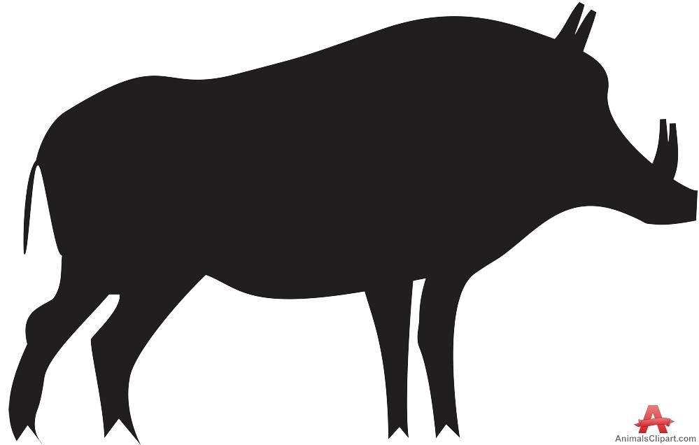 999x636 Hog Pig Silhouette Free Clipart Design Download