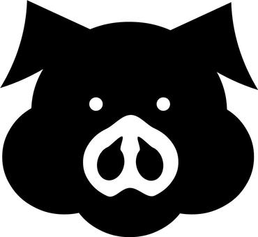 370x340 Free Cliparts Silhouette, Pig, Lid, A Pig