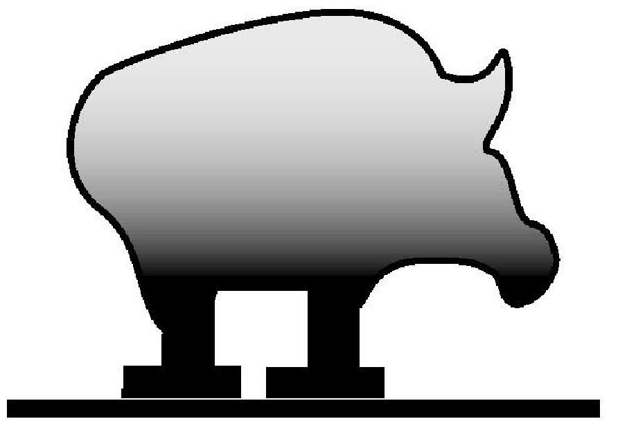 905x644 Pig Silhouette Vector Graphics Packsilhouette Clip Art