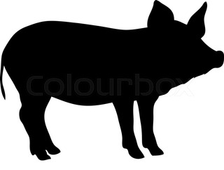 320x242 Cartoon Swine Flu Pig Stock Vector Colourbox