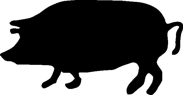 600x312 Pig Silhouette Clip Art