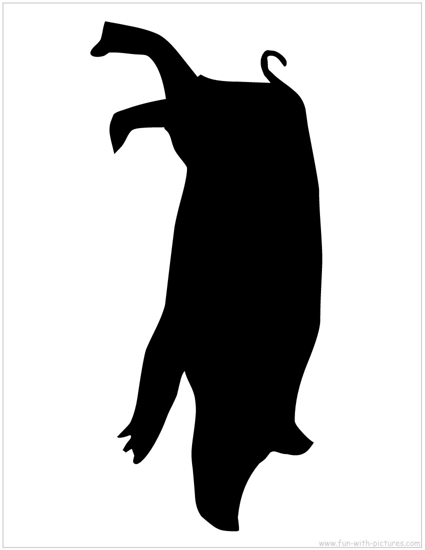 850x1100 Free Pig Silhouette Vector Silouetts Clipart Library