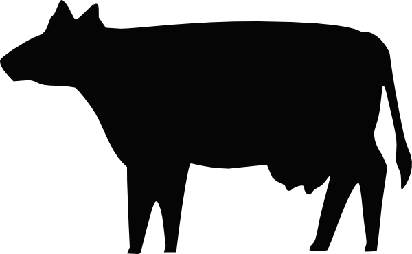 600x370 Cow Silhouette Clip Art Free Vector 4vector
