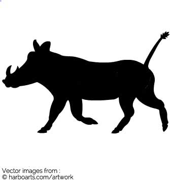 335x355 Download Wild Boar Silhouette