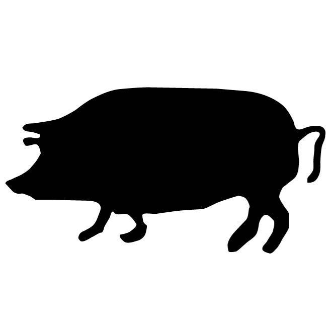 660x660 Pig Outline Image