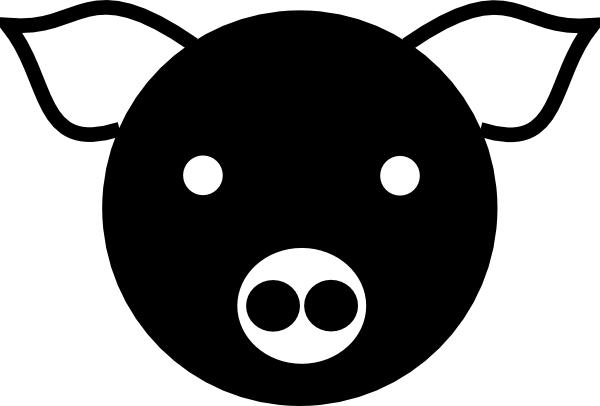 Pig Vector Silhouette