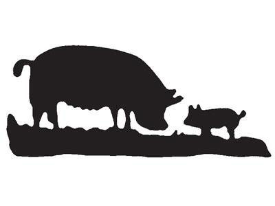 400x300 Pig Silhouette Vector Graphics Packsilhouette Clip Art