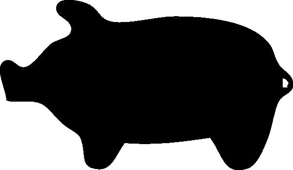 600x348 Piggie Silhouette Clip Art Free Vector 4vector