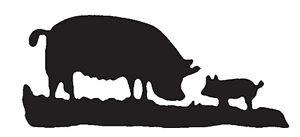 300x137 Pig Amp Piglet Silhouette In Mild Steel, For Weather Vanes