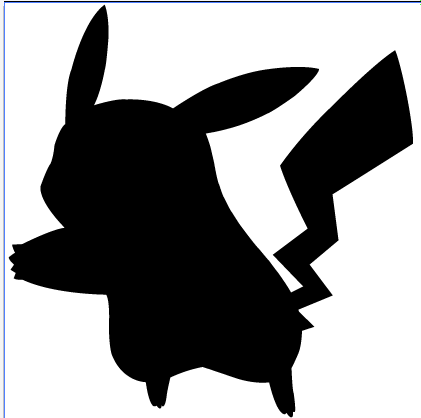 421x418 Pikachu Silhouette By Ba Ru Ga