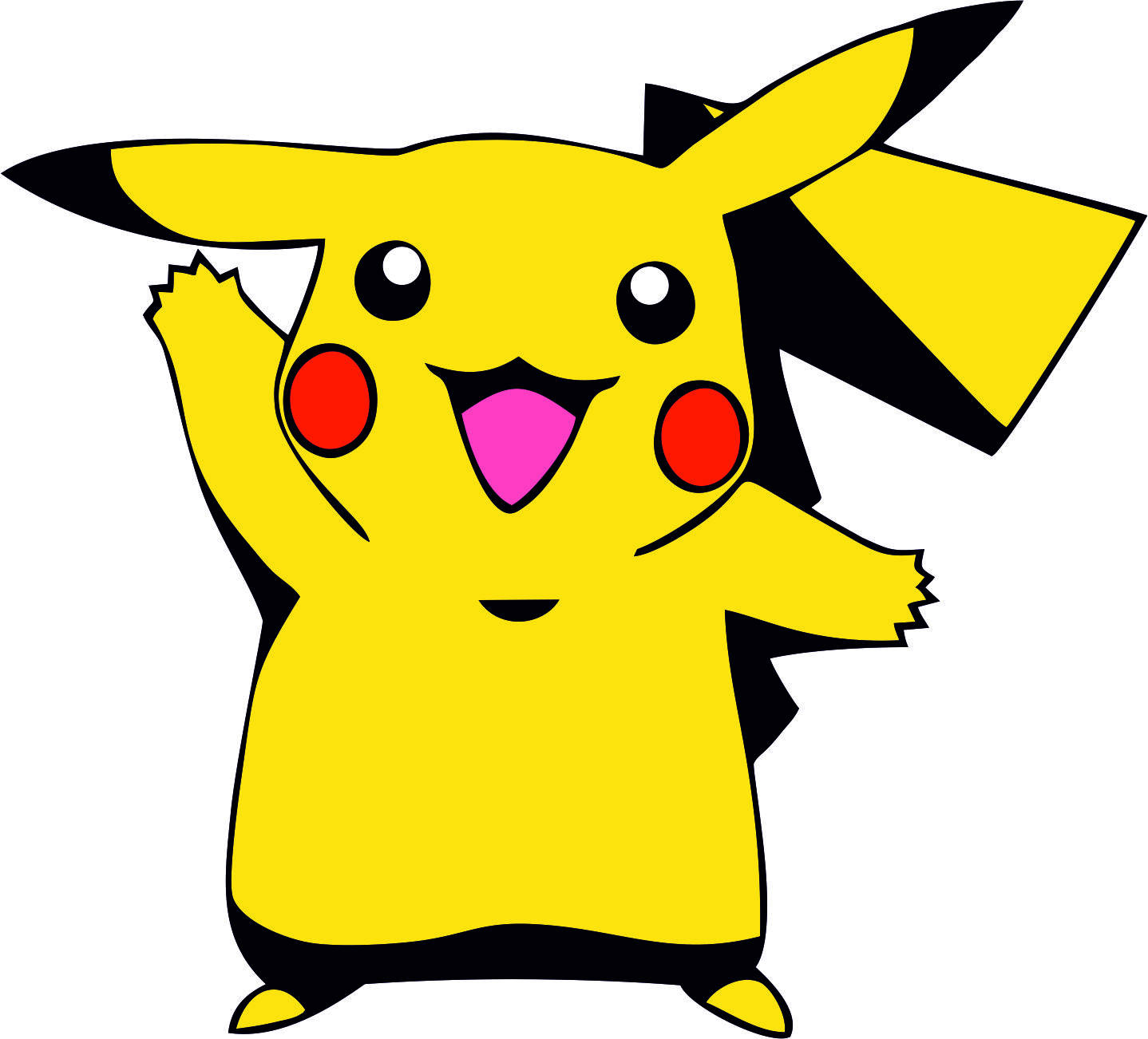 1438x1302 Vector Pikachu Pokemon Svg Dxf Logo Silhouette Studio