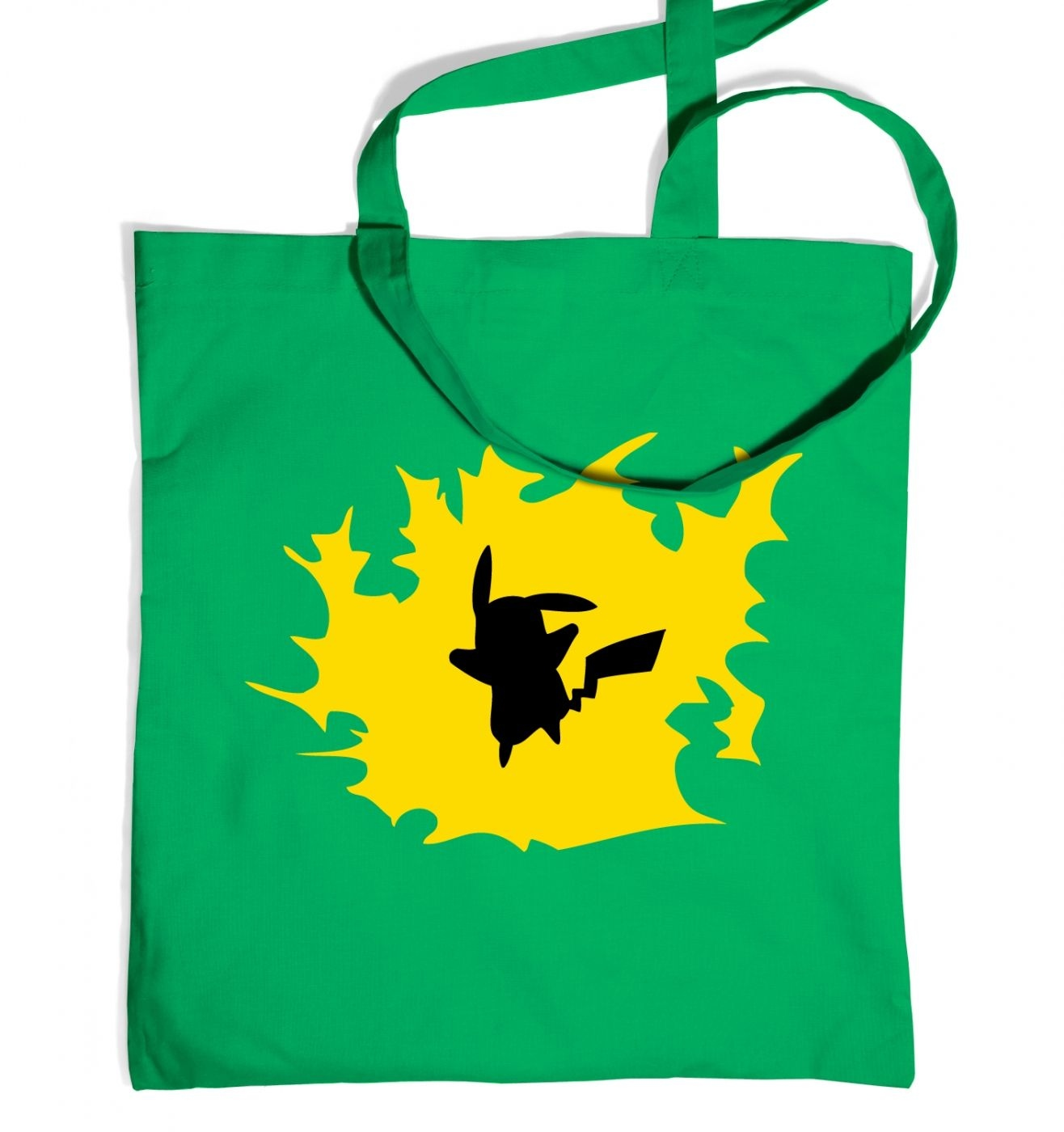 1316x1400 Yellow Pikachu Silhouette Tote Bag