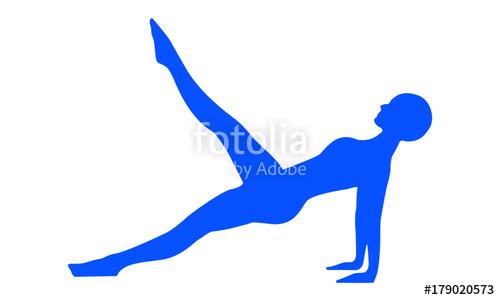 500x300 Silueta De Mujer Haciendo Postura De Yoga Y Pilates Stock Image