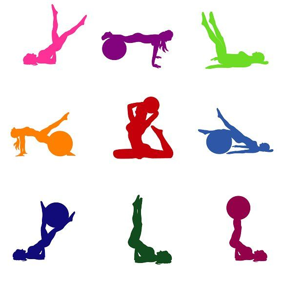 580x580 Set Of Fitness Icons, Pilates Fitness Pilates, Icons And Gym Fitness
