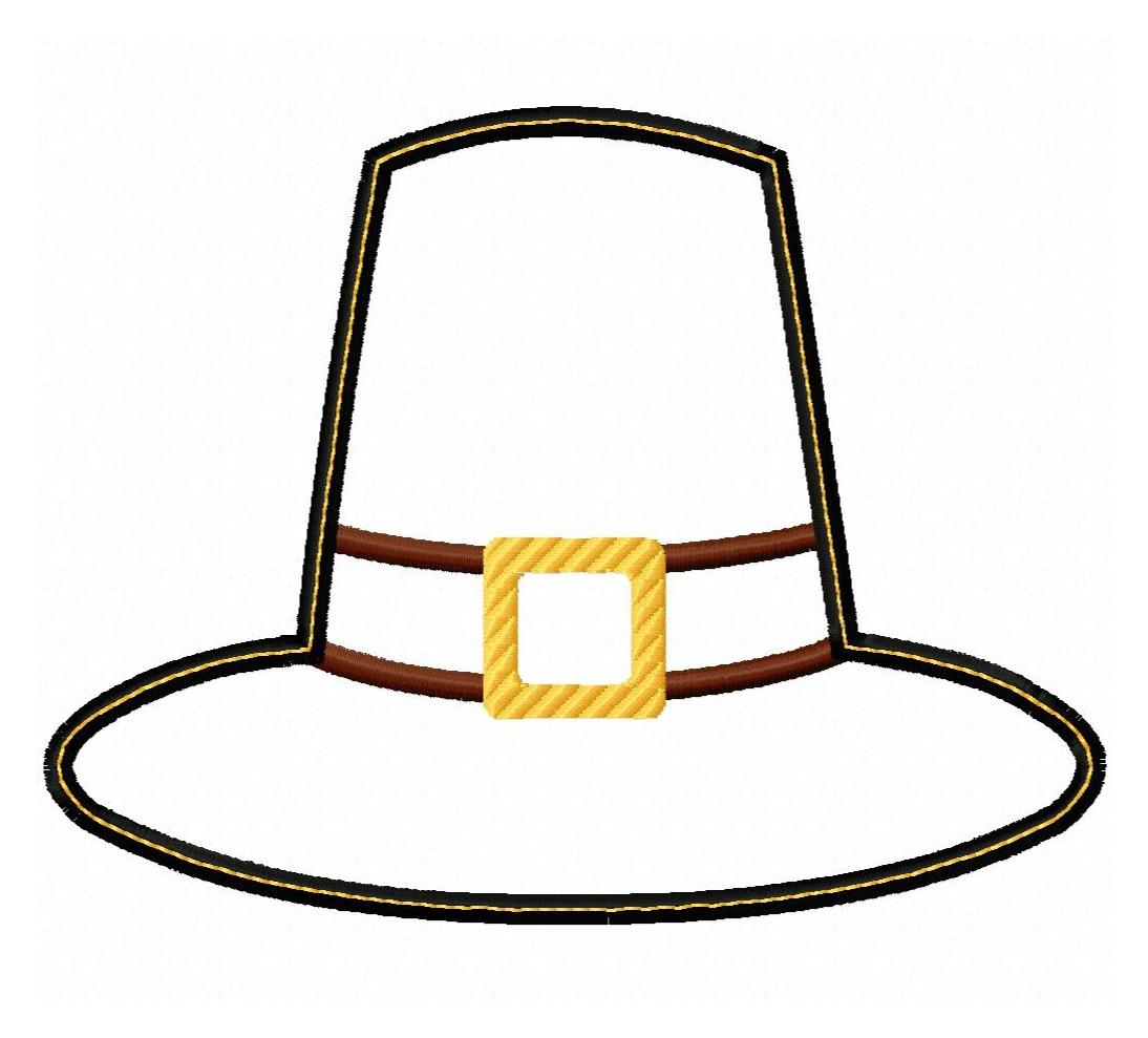 1094x989 Pilgrim Hat Applique Design