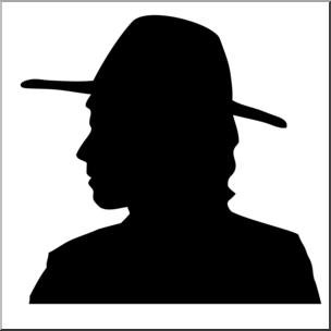 304x304 Clip Art Thanksgiving Silhouettes Pilgrim Man Bampw I