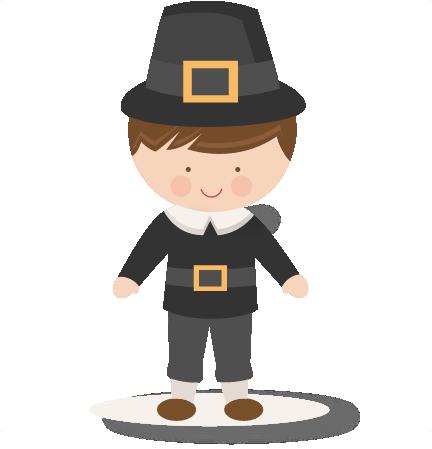 432x449 Thanksgiving Boy Pilgrim Svg Scrapbook Cut File Cute Clipart Files
