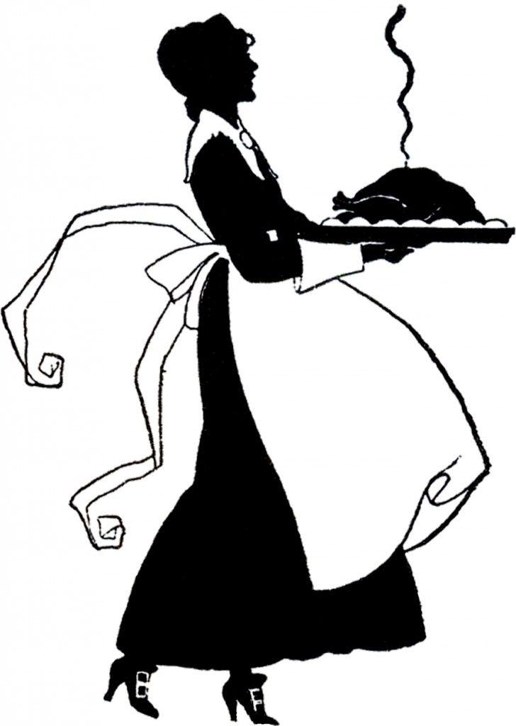728x1024 Cute Thanksgiving Pilgrim Lady Silhouette Graphics Fairy