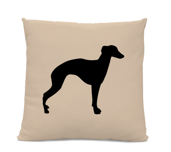 570x507 Greyhound Silhouette Pillow Your Choice Of Color Modern