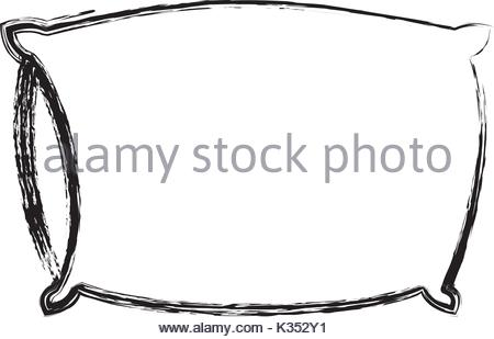 450x309 White Pillow To Sleep Vector Illustration Isolated On Background