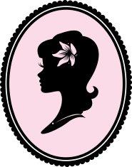185x235 Pin Up Silhouette Of Cabaret Girl Premium Clipart