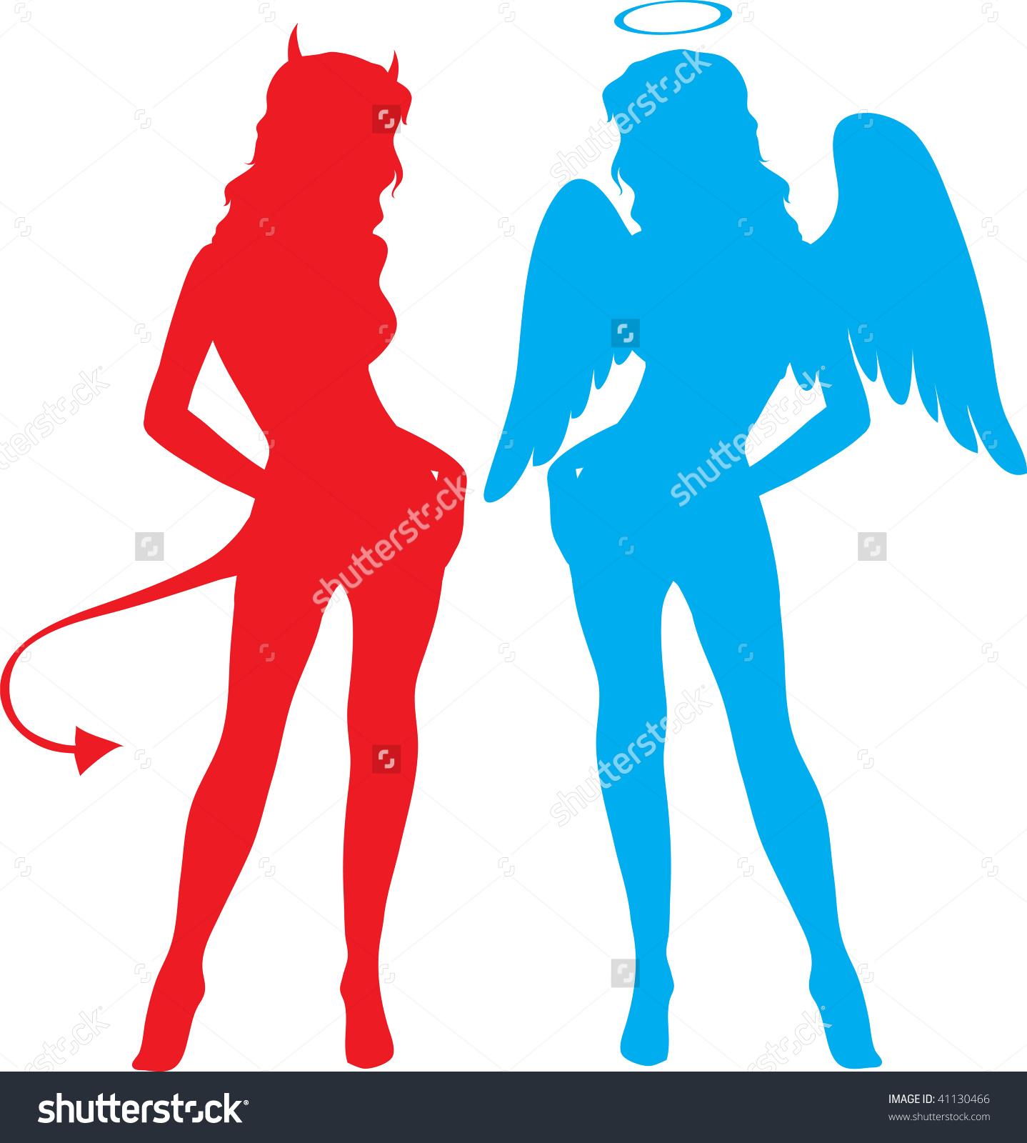 1438x1600 Female Devil Clipart