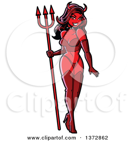 450x470 Female Devil Clipart
