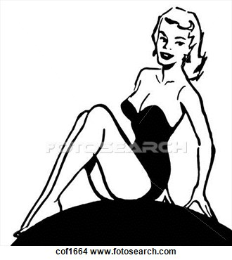 330x370 Free Pin Up Girl Clipart