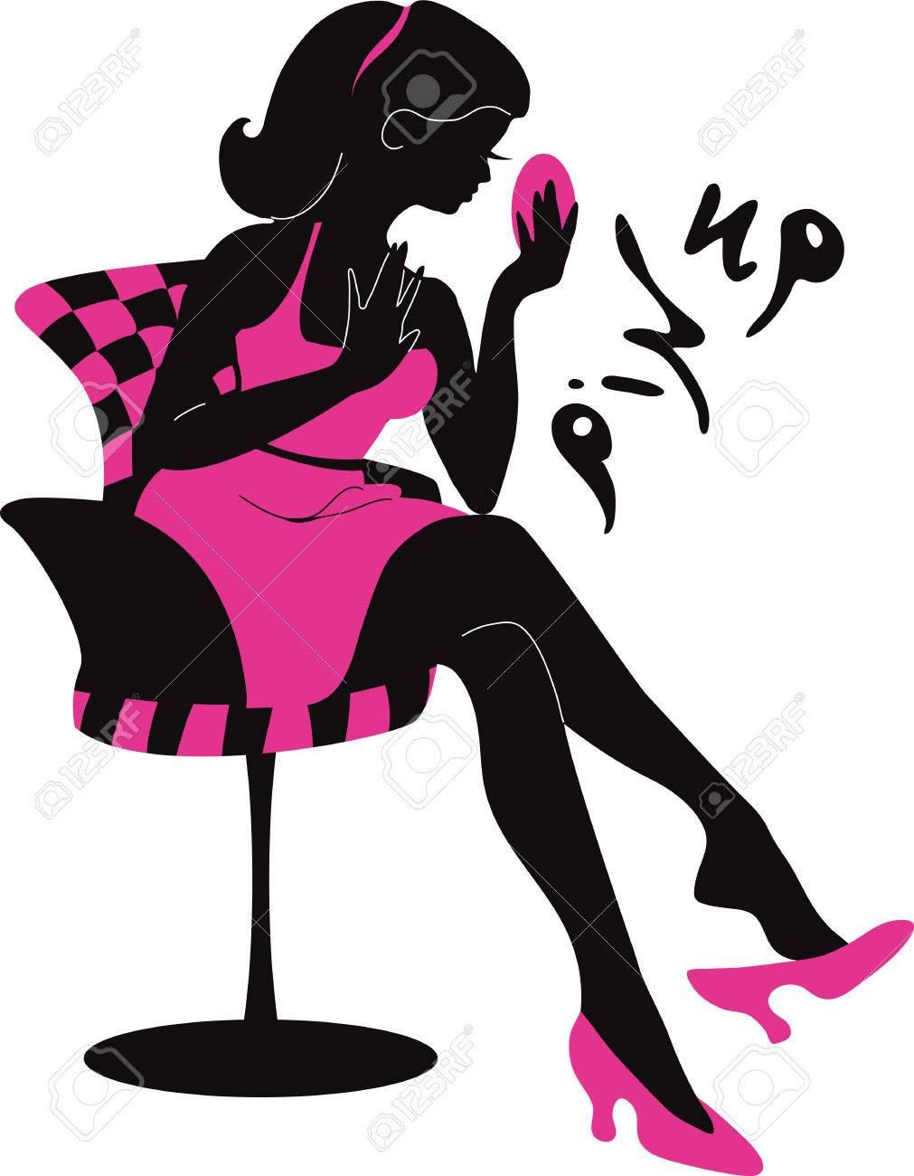 1011x1300 Pin Up Silhouette Clip Art