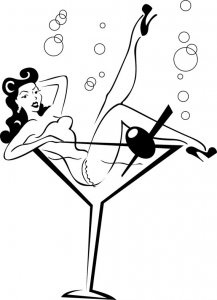Pin Up Silhouette Clip Art