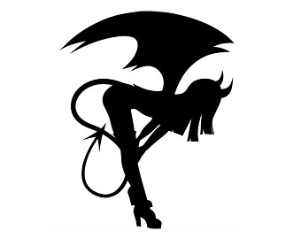 340x270 Clipart Black And White Silhouette Succubus Collection