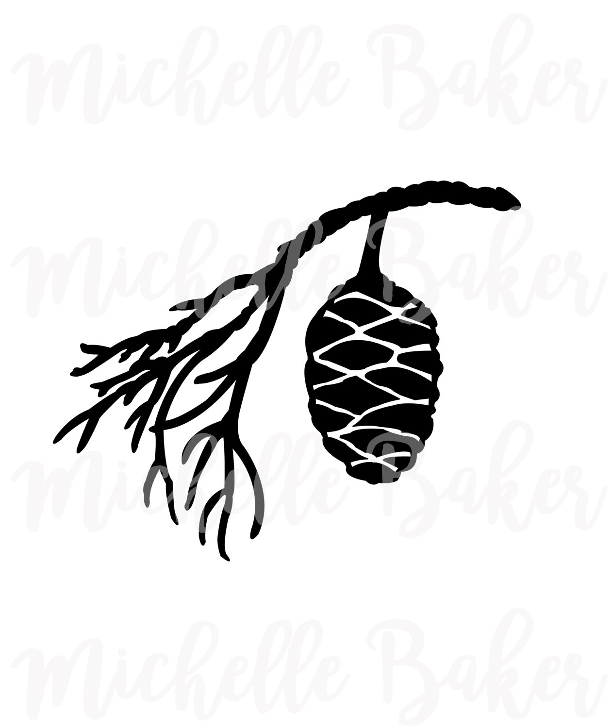 1261x1500 Pinecone Silhouette, Commercial Use Svg, Vector Clip Art