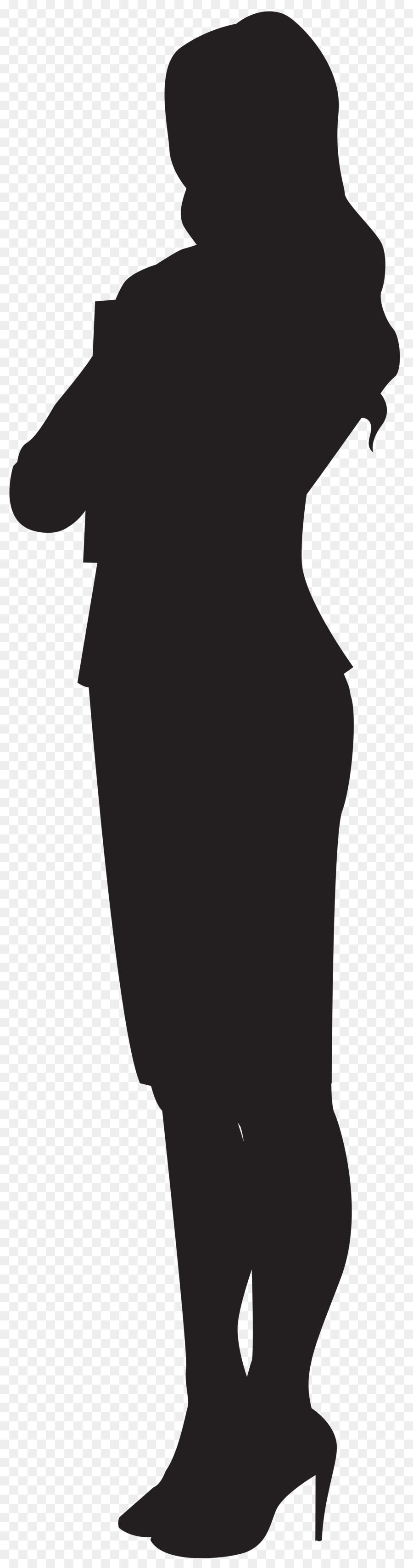 900x3420 Silhouette Woman Clip Art