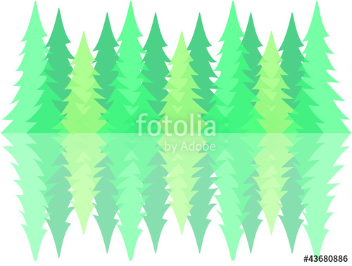 500x378 Pine Forest Silhouette Stock Image And Royalty Free Vector Files