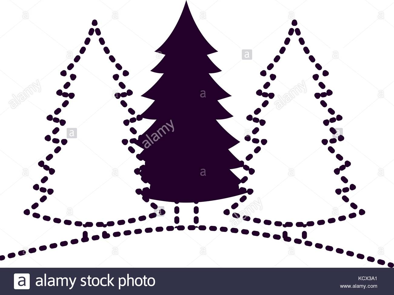1300x973 Coniferous Forest Stock Vector Images