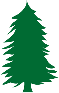 190x300 Green Pine Tree Silhouette By Libertad Spreadshirt