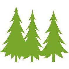 236x236 Pine Tree Silhouette