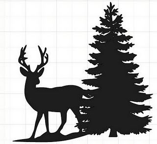 320x294 Deer Silhouette With Tree Silhouette Projects