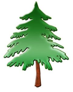 Pine Tree Silhouette Clip Art