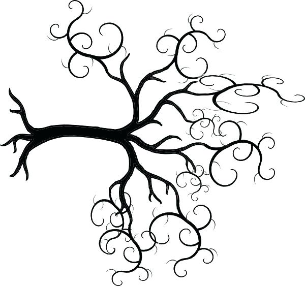 600x565 Kitchen Aid Decal Tree Outline Pine Tree Black And White Tree