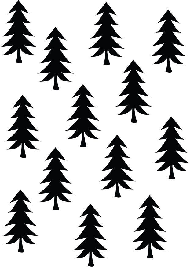 622x872 Pine Tree Pattern Background Clipart Free Collection