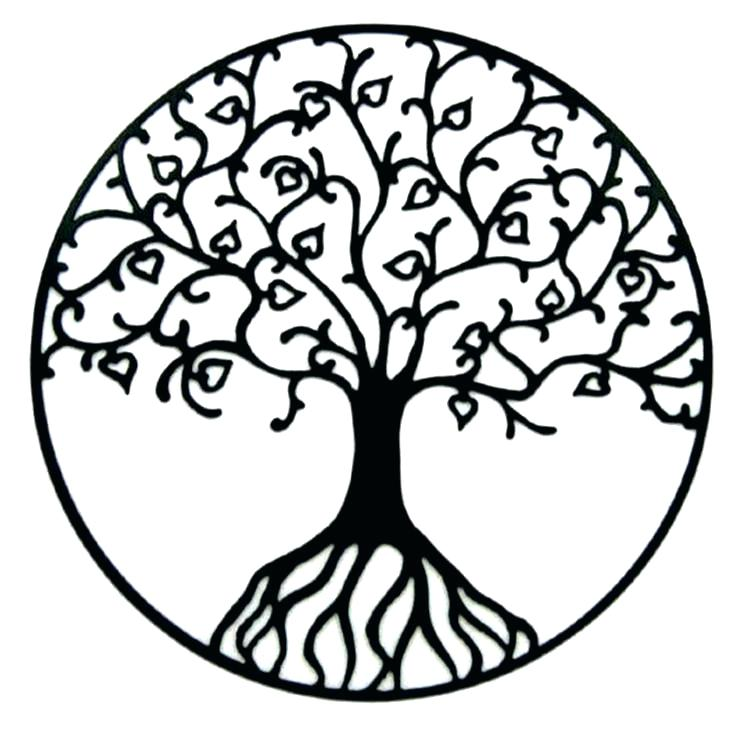 736x736 Outline Of A Tree