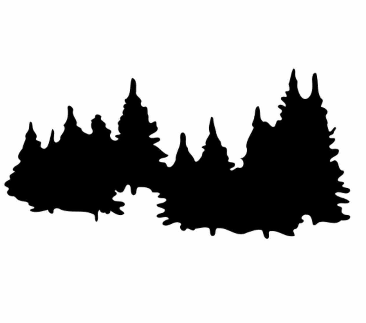 1264x1115 Pine Forest Silhouette Tattoo